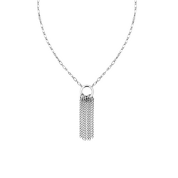 Grace Mini Tassel Necklace in Silver