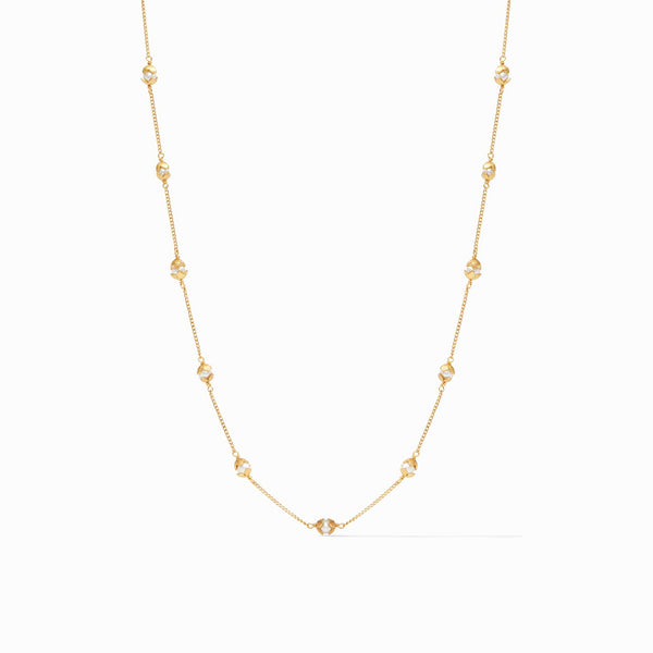 Penelope Delicate Station Necklace, Pearl