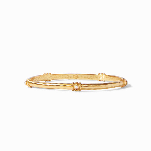 Savannah Stone Bangle, Pearl
