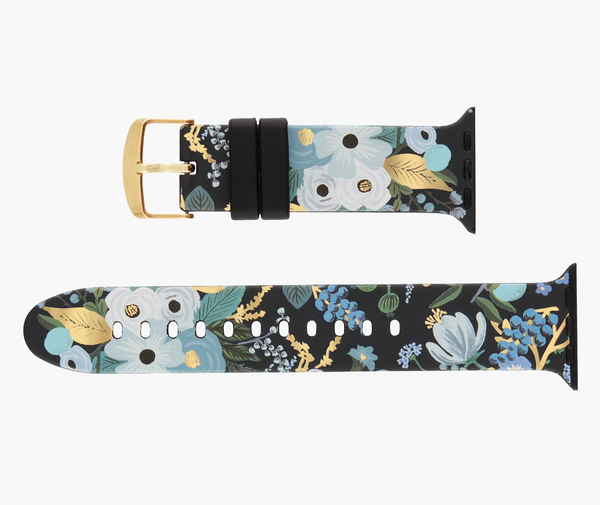 Garden Party Blue Apple Watch Band, 42-44mm
