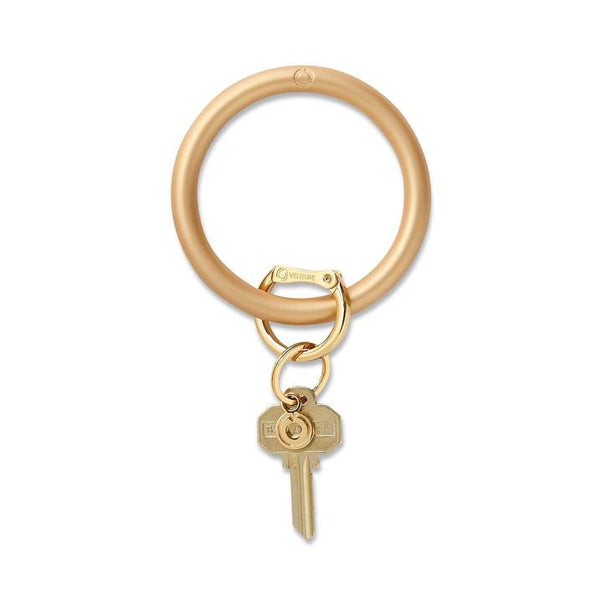 Silicone Big O Key Ring - Metallic Gold Rush