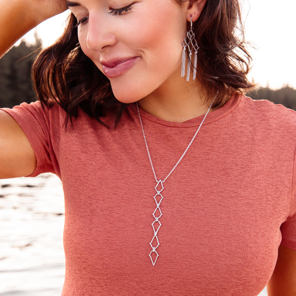 Southern Charm Lariat Necklace in Silver
