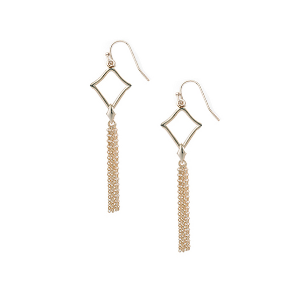 Southern Charm Mini Tassel Earrings in Gold