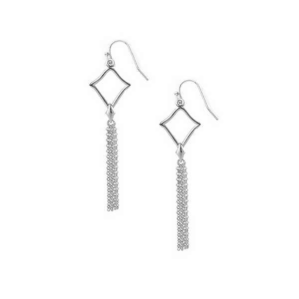 Southern Charm Mini Tassel Earrings in Silver