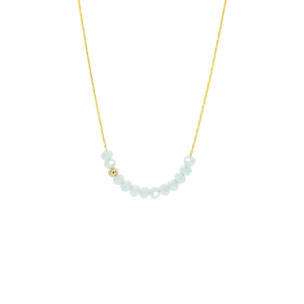 Sprinkle of Sky Necklace in Baby Blue, Gold