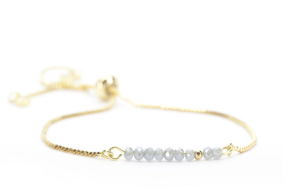 Beaded Bolo Bracelet in Luminesce