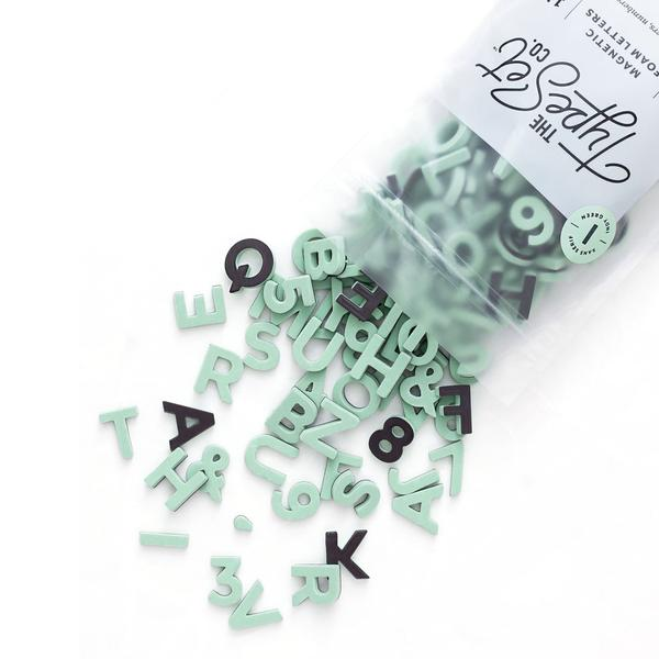 "Soft Magnetic Letters 1"" Sans Serif, Indy Green"