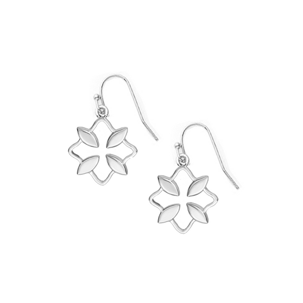 Grace Mini Drop Earrings - Silver