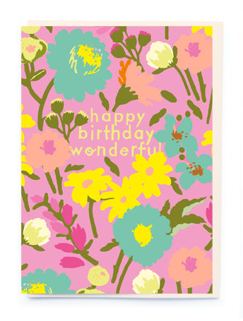 Bright Florals Greeting Card