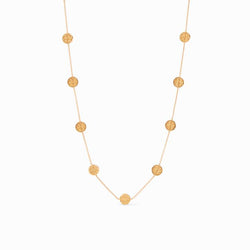 Valencia Delicate Station Necklace, Gold