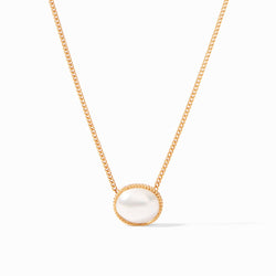 Verona Solitaire Necklace, Pearl