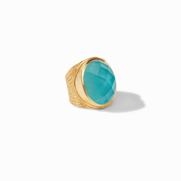 Verona Statement Ring, Iridescent Bahamian Blue