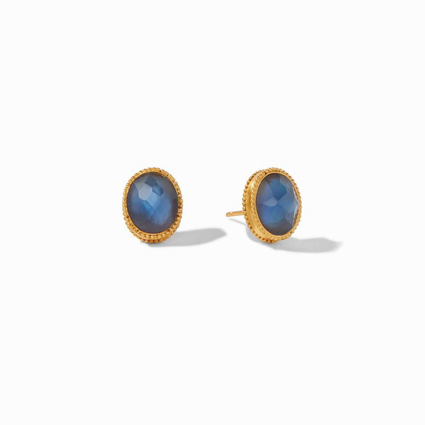 Verona Stud Earrings - Iridescent Azure Blue