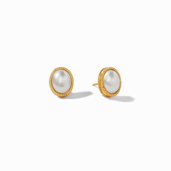 Verona Stud Earrings - Pearl