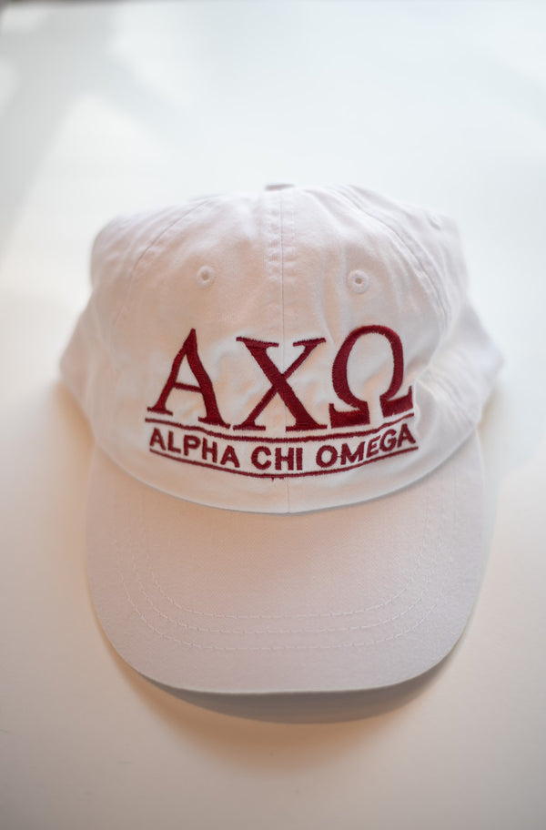 Sorority Baseball Hats-Alpha Chi Omega