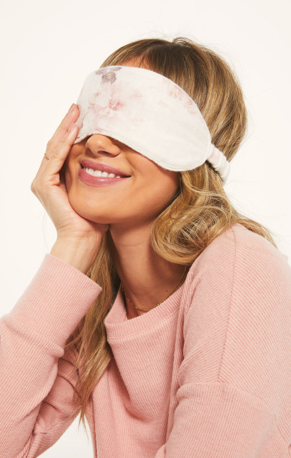 Floral Sleep Mask, Bone