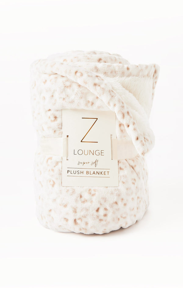 Sunday Leo Plush Blanket, Vanilla Ice