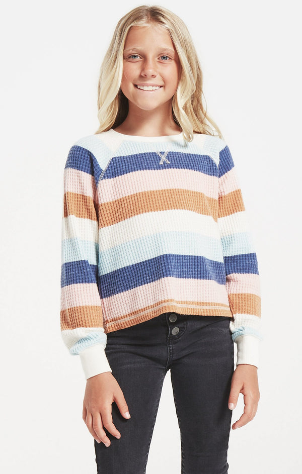Girls Reagan Stripe Top, Multi
