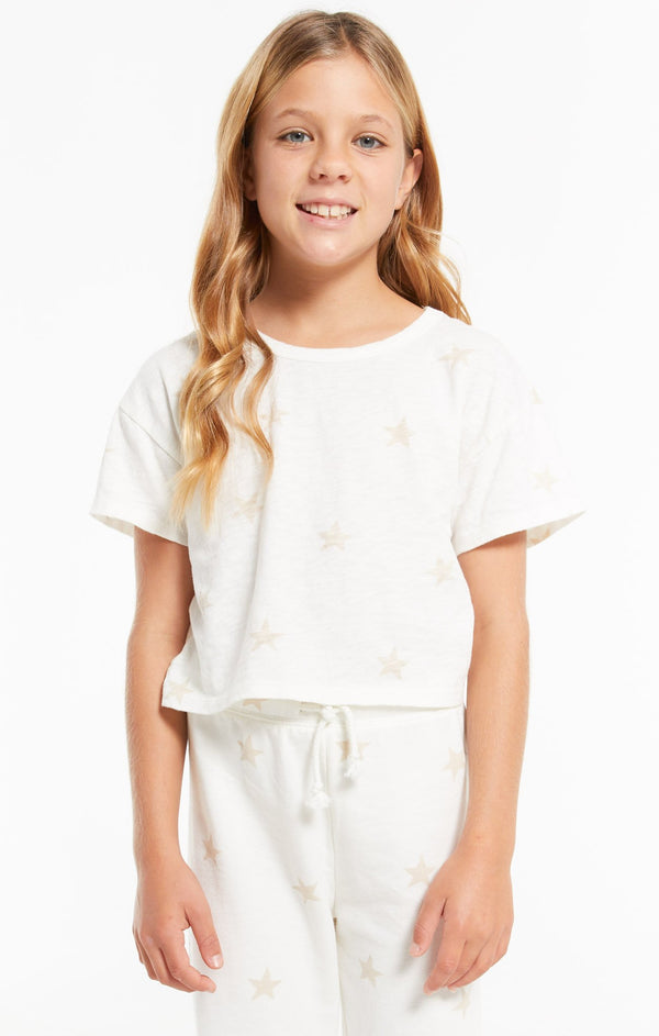 Girls Nattie Star Tee, Sand Dollar