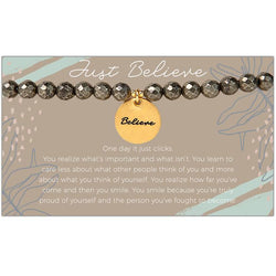 Token Stretch Bracelet, Believe