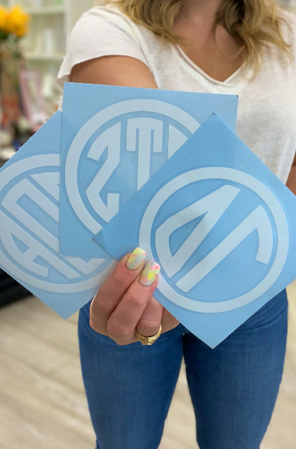Sorority Circle Vinyl Decal