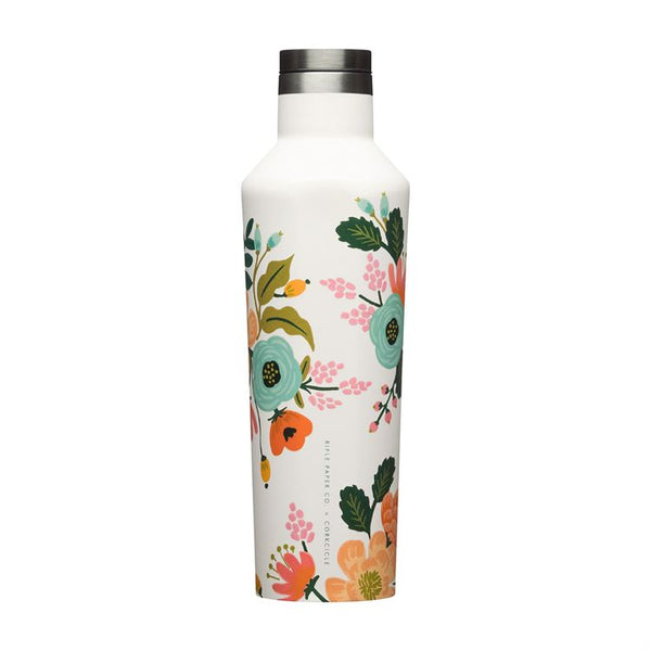 Rifle Paper 16oz Canteen, Cream Lively Floral
