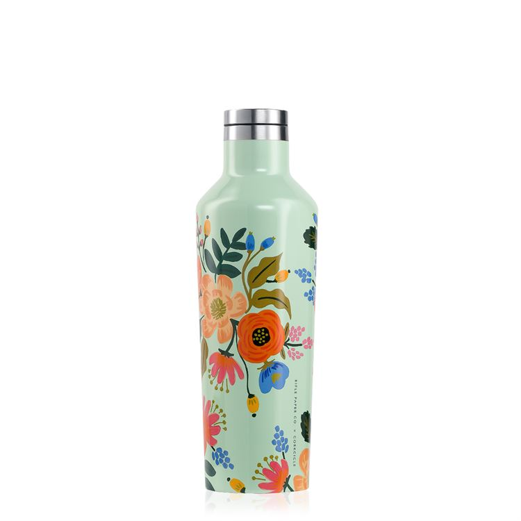 Rifle Paper 16oz Canteen, Mint Lively Floral