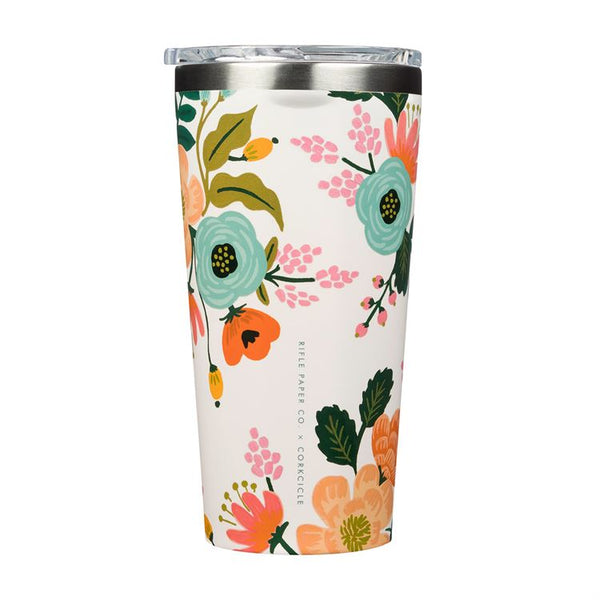 Rifle Paper 16oz Tumber, Cream Lively Floral