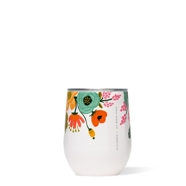 Rifle Paper Stemless, Cream Lively Floral