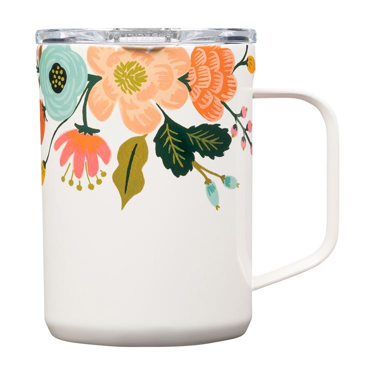 Rifle Paper 16oz Coffee Mug, CreamLively Floral