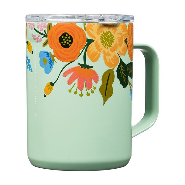 Rifle Paper 16oz Coffee Mug, Mint Lively Floral
