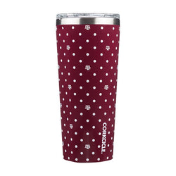 TEXAS A&M POLKA DOT TUMBLER 24 OZ