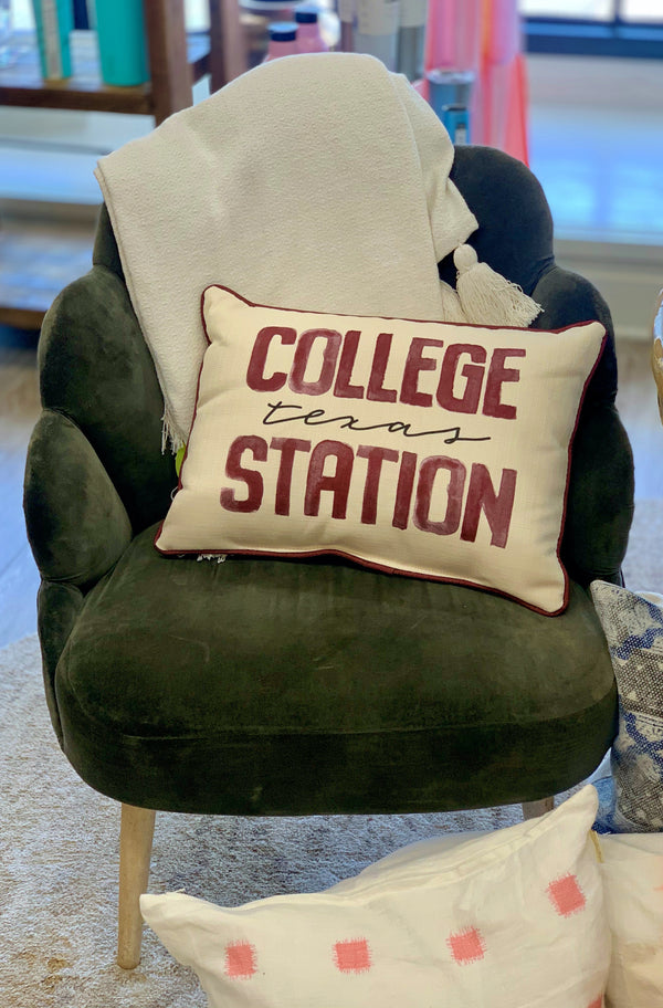 College Station, Texas Gameday Pillow