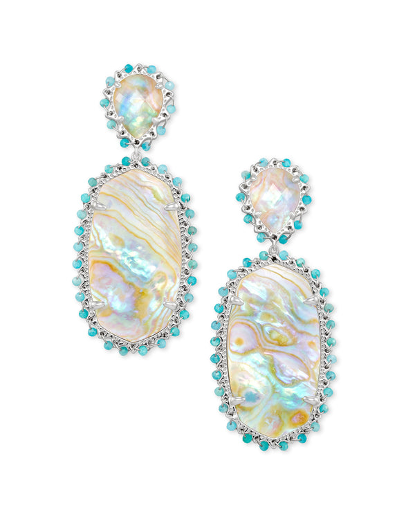 Parsons Earrings in Iridescent Abalone