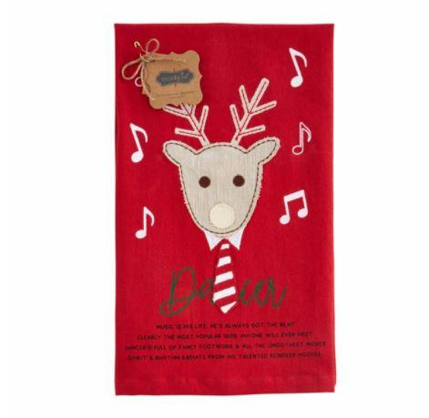 Dancer Reindeer Hand Towel