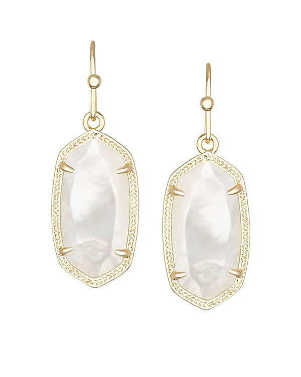 KENDRA SCOTT Dani Earrings in Ivory Mother-of-Pearl