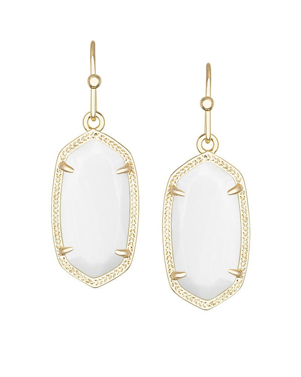 KENDRA SCOTT DANI Gold Earrings in White Pearl - Sabi Boutique - 1