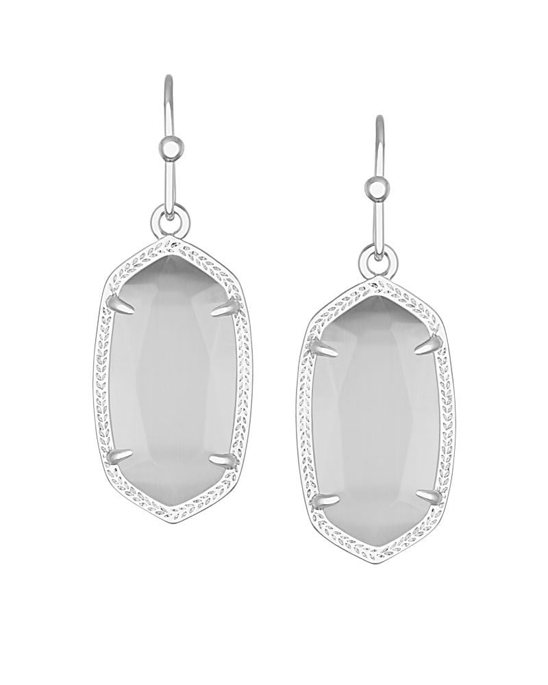 KENDRA SCOTT Dani Silver Earrings in Slate