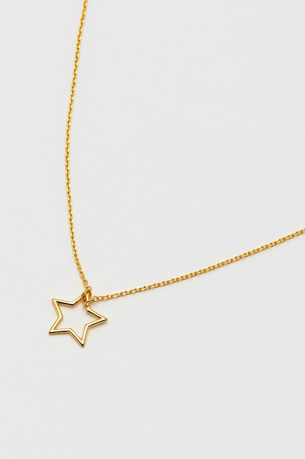 Open Star Necklace - Gold