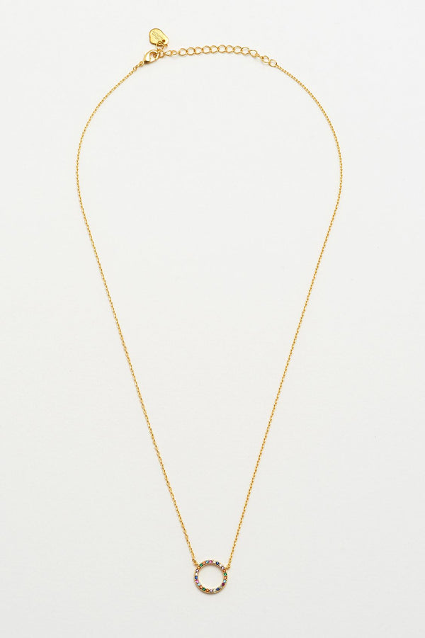 Multi Circle Necklace - Gold
