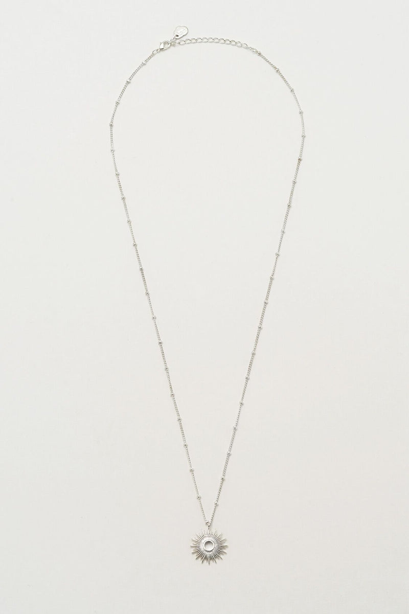 Full Sunburst Necklace - Silver