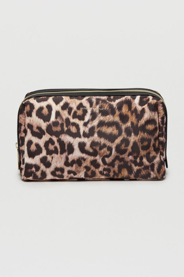 Leopard Print Travel Toiletries Bag