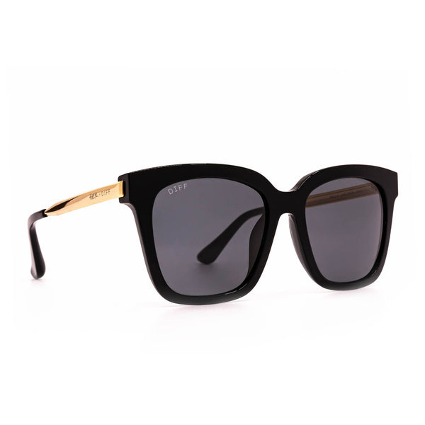 Bella - Black with Gold Temples + Grey