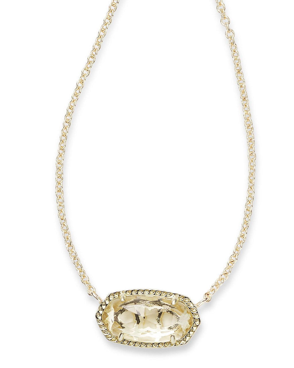 KENDRA SCOTT Elisa Pendant Necklace In Clear Crystal