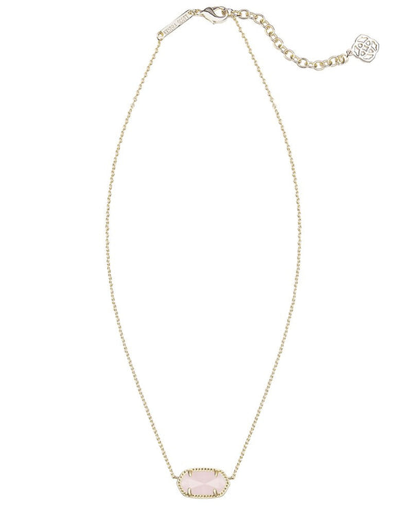 KENDRA SCOTT Elisa Gold Necklace in Rose Quartz