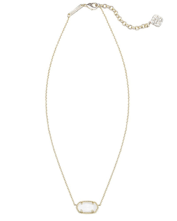 KENDRA SCOTT Elisa gold Necklace in White Mother-of-Pearl