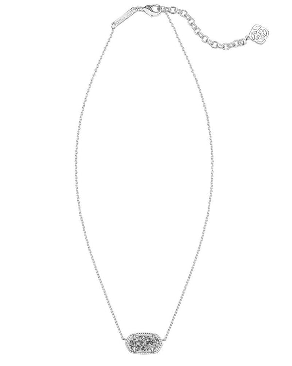 KENDRA SCOTT Elisa Silver Necklace in Platinum Drusy