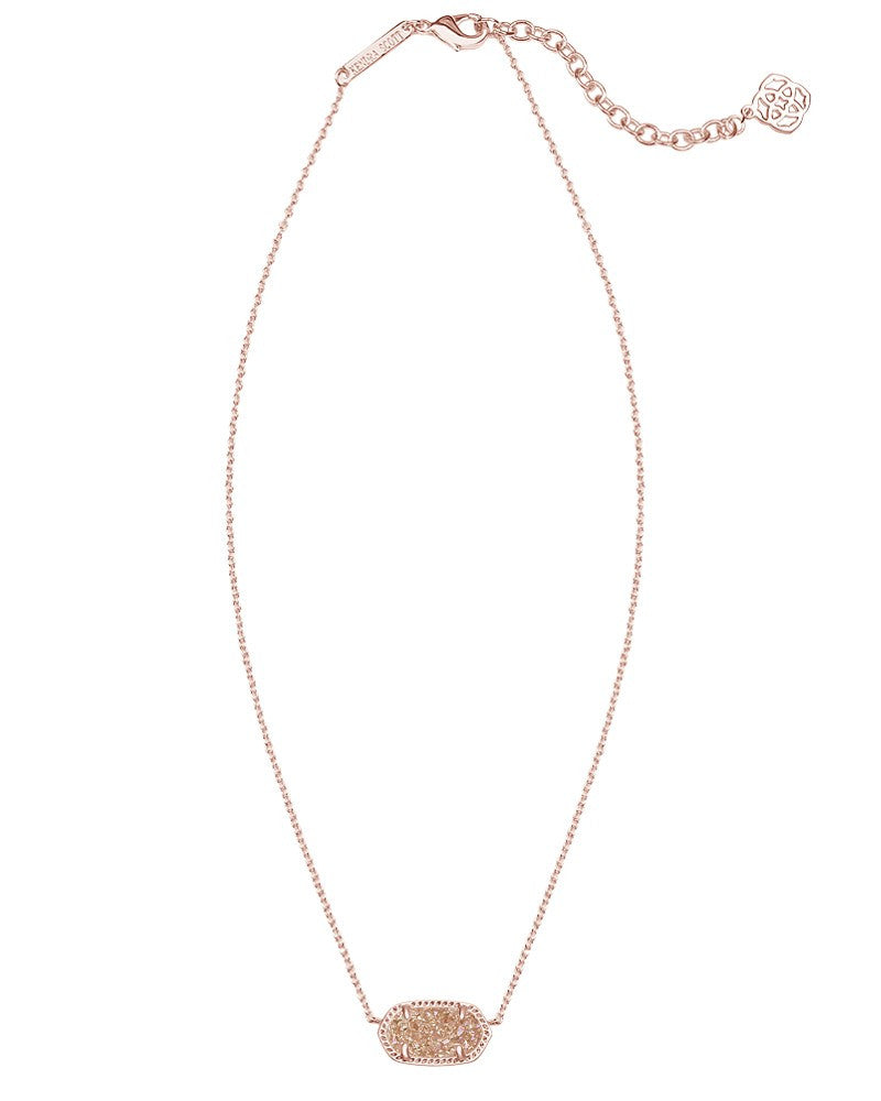 KENDRA SCOTT Elisa Necklace in Rose Gold Drusy - Sabi Boutique - 1