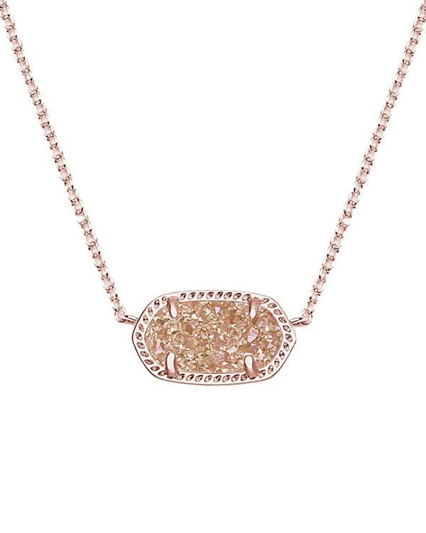 KENDRA SCOTT Elisa Necklace in Rose Gold Drusy - Sabi Boutique - 2