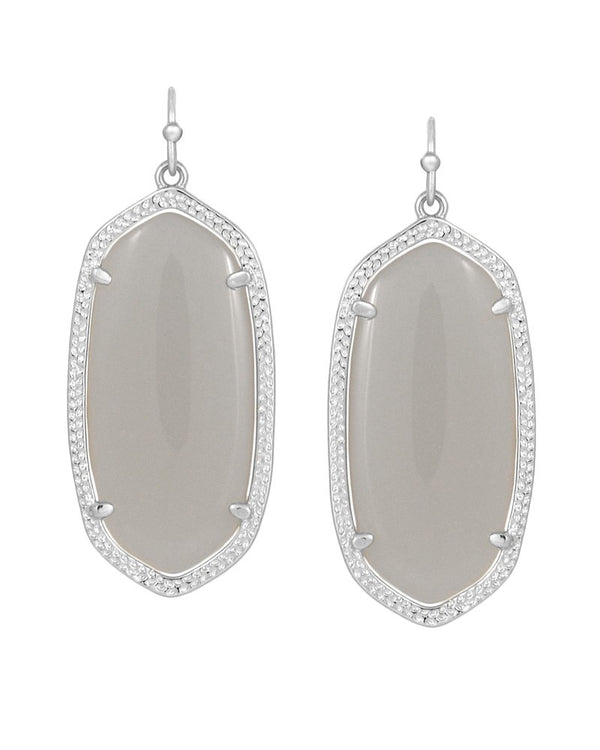 KENDRA SCOTT Silver Elle Earrings in Slate - Sabi Boutique